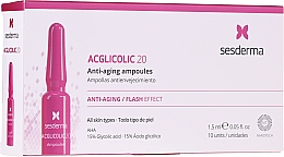 Kup Ampułki przeciwstarzeniowe z kwasem glikolowym - SesDerma Laboratories Acglicolic Anti-Aging Flash Effect Ampoules