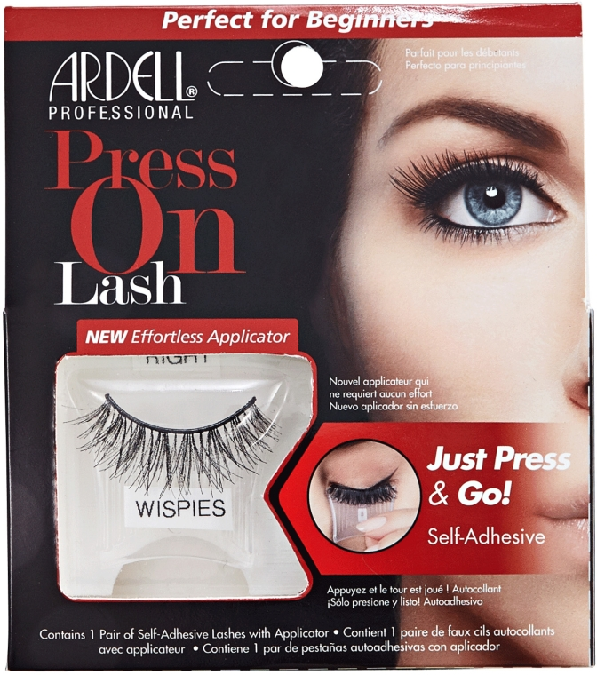Sztuczne rzęsy - Ardell Press On Lash Wispies Black — фото N1