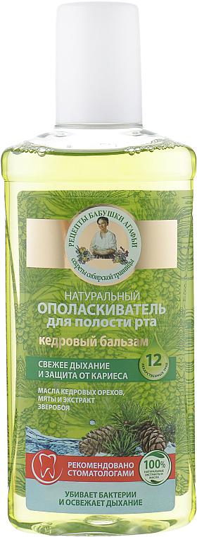 Płyn do płukania jamy ustnej Balsam cedrowy - Receptury Babci Agafii