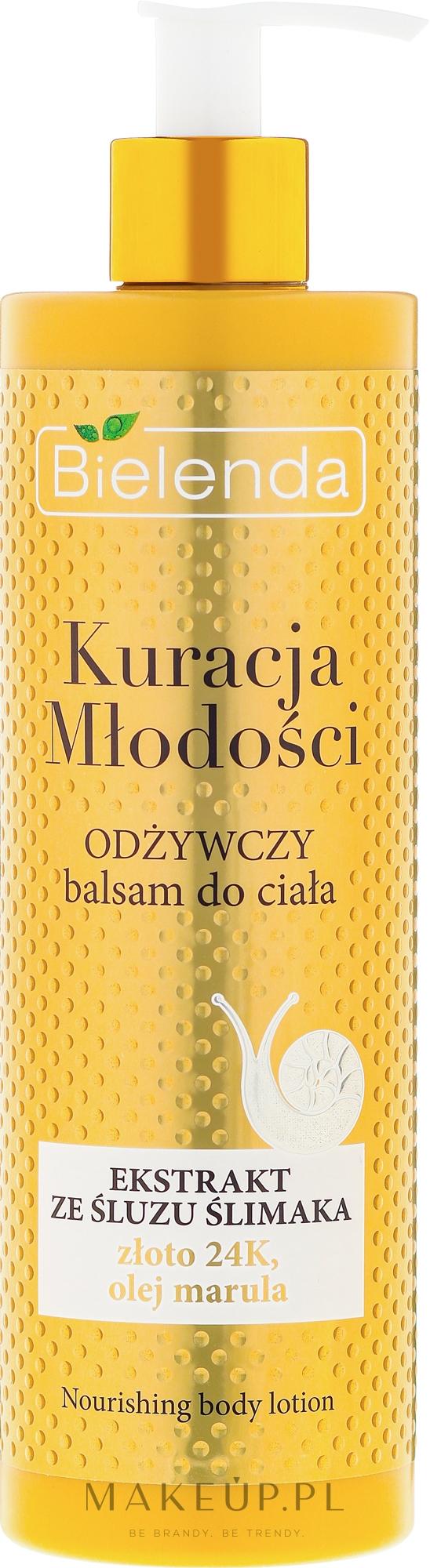 Odżywczy balsam do ciała z ekstraktem ze śluzu ślimaka - Bielenda Kuracja młodości — фото 400 ml