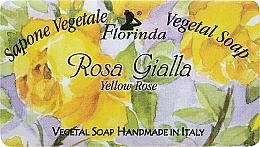 Kup PRZECENA! Mydło naturalne w kostce Żółta róża - Florinda Sapone Vegetal Soap Yellow Rose *