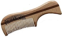 Kup Drewniany grzebień do brody, 9,5 cm - Golden Beards Eco Moustache Comb
