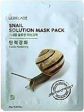 Kup Maseczka do twarzy w płachcie - Lebelage Snail Solution Mask