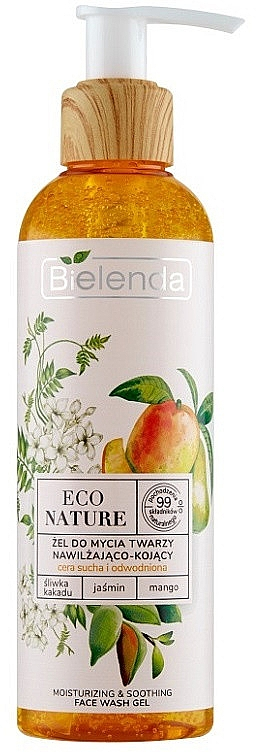 Żel do mycia twarzy - Bielenda Eco Nature Kakadu Plum, Jasmine and Mango