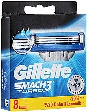 Wymienne ostrza do maszynki, 8 szt. - Gillette Mach3 Turbo — фото N6