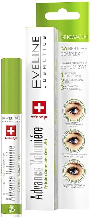 Skoncentrowane serum do rzęs 3 w 1 - Eveline Cosmetics Advance Volumiére