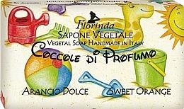Kup Mydło naturalne w kostce dla dzieci Słodka pomarańcza - Florinda Sapone Vegetale Orange Cake