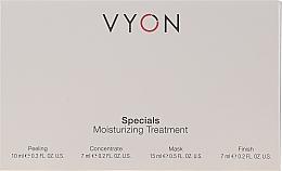 Kup Zestaw do pielęgnacji twarzy - Vyon Specials Moisturizing Treatment (f/peeling/10ml + f/conc/7ml + f/mask/15ml + f/cr/7ml)