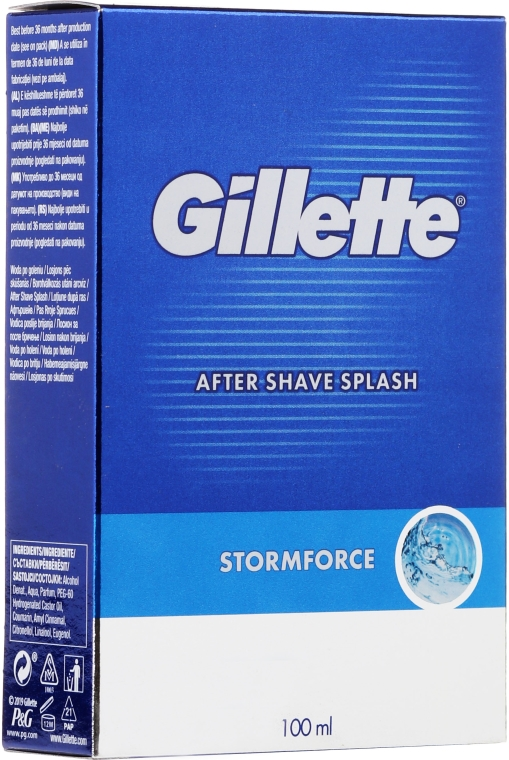 Woda po goleniu - Gillette Blue Storm Force After Shave Splash