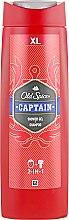 Kup Żel pod prysznic i szampon 2 w 1 dla mężczyzn - Old Spice Captain Shower Gel + Shampoo