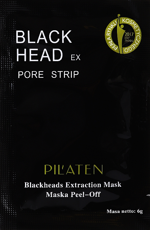 Czarna maska peel-off oczyszczająca pory - Pilaten Hydra Suction Black Mask (próbka)
