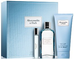 Kup Abercrombie & Fitch First Instinct Blue Women - Zestaw (edp 100 ml + b/lot 100 ml + edp 15 ml)