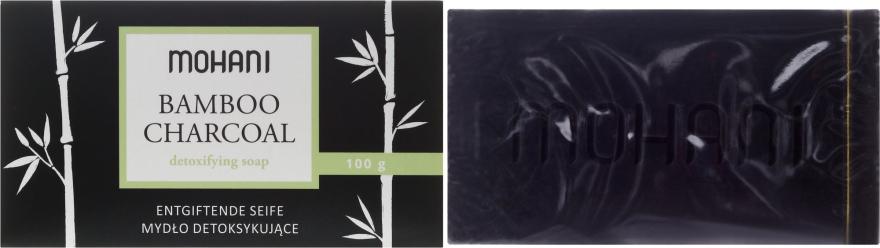 Mydło detoksykujące Bambus i węgiel - Mohani Bamboo Charcoal Detoxifying Soap — фото N1