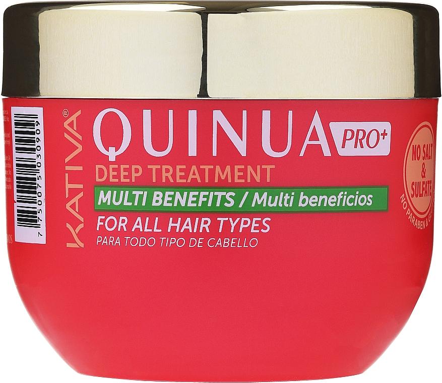 Maska do włosów zniszczonych farbowaniem - Kativa Quinua PRO Deep Treatment