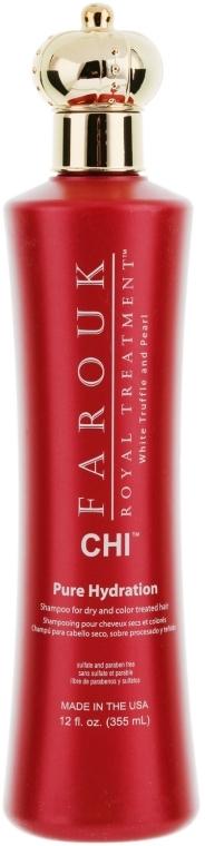 Nawilżający szampon do suchych i przemęczonych włosów farbowanych - CHI Farouk Royal Treatment™ Pure Hydration Shampoo
