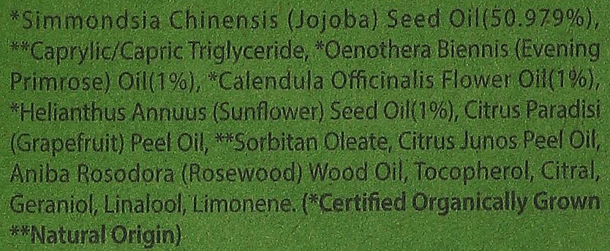 Mgiełka do twarzy - Whamisa Organic Jojoba Flower Seeds Body Oil Mist — фото N4
