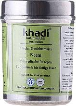 Kup Roślinna maseczka ajurwedyjska do twarzy Neem - Khadi Neem Herbal Face Mask