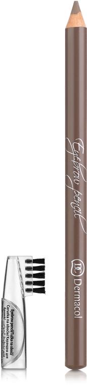 Kredka do brwi ze szczoteczką - Dermacol Eyebrow Pencil — фото N1