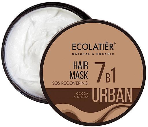 Regenerująca maska S.O.S do włosów 7 w 1 Kakao i jojoba - Ecolatier Urban Hair Mask — фото N1