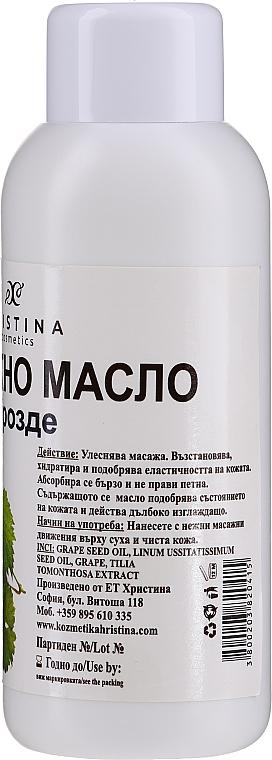 Olejek do masażu z pestek winogron - Hristina Cosmetics Grape Massage Oil — фото N2