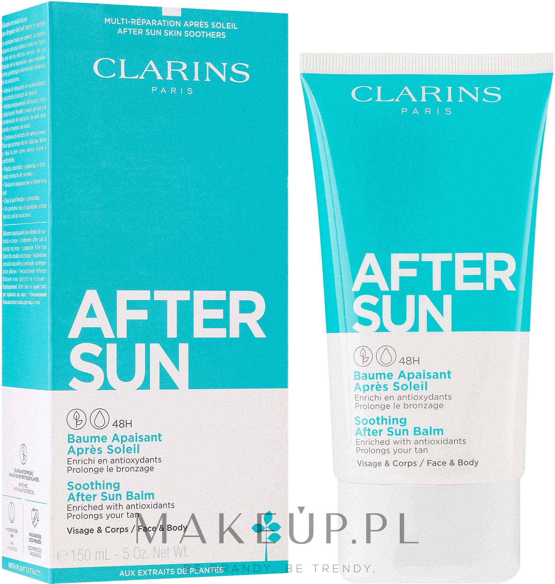 Łagodzący balsam po opalaniu do twarzy i ciała - Clarins Soothing After Sun Balm 48H — фото 150 ml