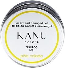 Kup Szampon do włosów suchych i zniszczonych w metalowym opakowaniu - Kanu Nature Shampoo Bar Pina Colada For Dry And Damaged Hair