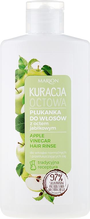 Płukanka z octem jabłkowym do włosów normalnych i przetłuszczających się - Marion Kuracja octowa