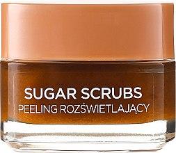 Rozświetlający peeling do twarzy i ust - L'Oreal Paris Sugar Scrubs Glow Peeling — фото N2