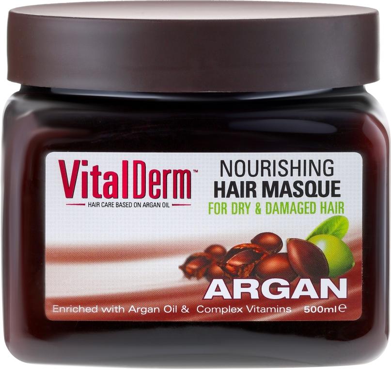 Maska do włosów farbowanych i rozjaśnianych - VitalDerm Argan