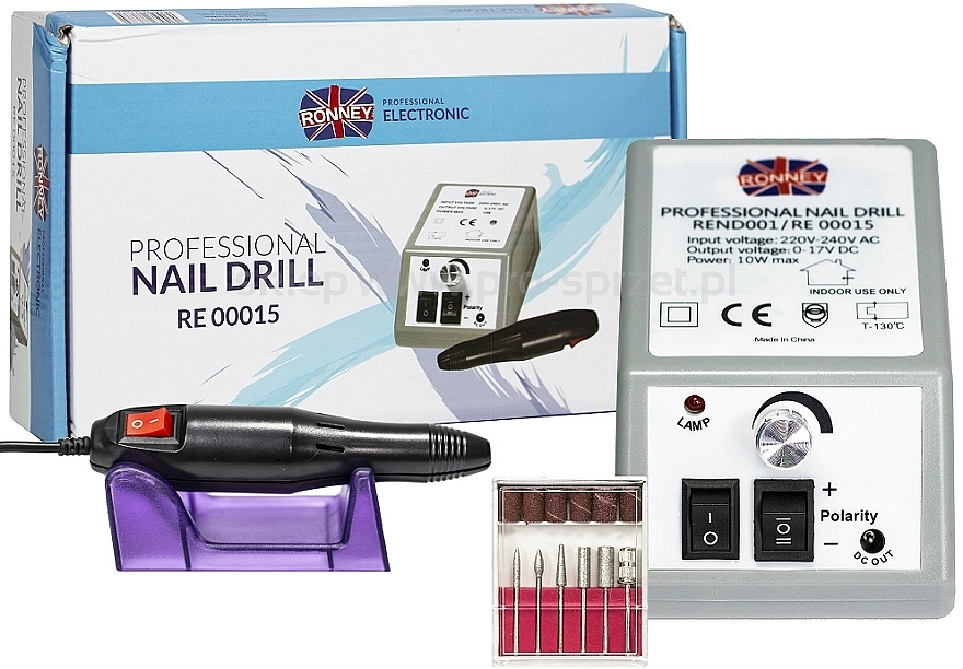 Frezarka do paznokci RE 00015 - Ronney Professional Nail Drill — фото N1