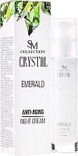 Kup Szmaragdowy krem przeciwstarzeniowy na noc - SM Collection Crystal Emerald Anti-Aging Night Cream