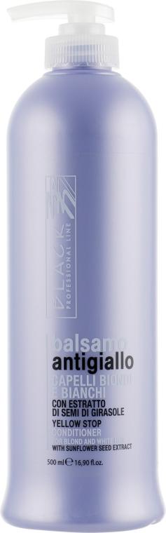 Odżywka przeciw żółknięciu włosów siwych i jasnych - Black Professional Line Yellow Stop Conditioner — фото N1