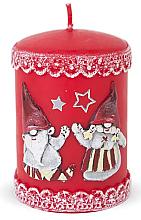 Kup Świeca dekoracyjna, czerwona, 7 x 10 cm - Artman Dwarves