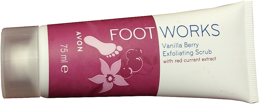 Peeling do stóp - Avon Foot Works Vanilla Berry Exfoliating Scrub — фото N1