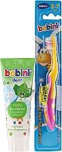 Kup Zestaw do zębów dla dzieci 2-7 lat, pasta + szczoteczka do zębów - Bobini (toothbrush + toothpaste/75ml)