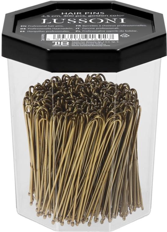 Wsuwki do włosów, proste, złote - Lussoni Hair Pins 4.5 cm  — фото N2
