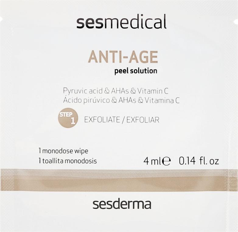 Domowa pielęgnacja przeciwstarzeniowa - SesDerma Laboratories Sesmedical Anti-Age Personal Peel Program (cr 15 ml + 4 x wipe 4 ml) — фото N2