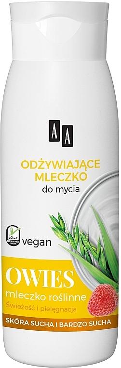 Odżywcze mleczko pod prysznic i do kąpieli Owies - AA Vegan