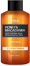 Kup Intensywnie nawilżający żel pod prysznic Ambra i wanilia - Kundal Honey & Macadamia Amber Vanilla Body Wash