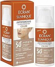 Kup Fluid tonujący z ochroną przeciwsłoneczną SPF 50 - Ecran Sunnique Antimanchas Color Spf50+