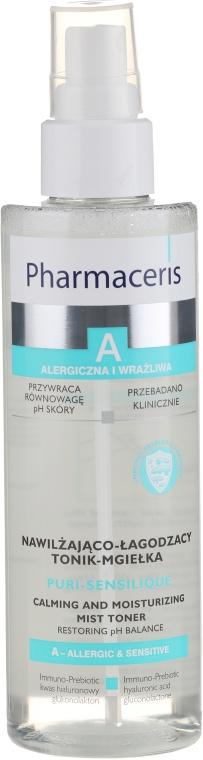 Nawilżająca mgiełka do twarzy - Pharmaceris A Puri-Sensilique Calming And Moisturizing Mist Toner — фото N1