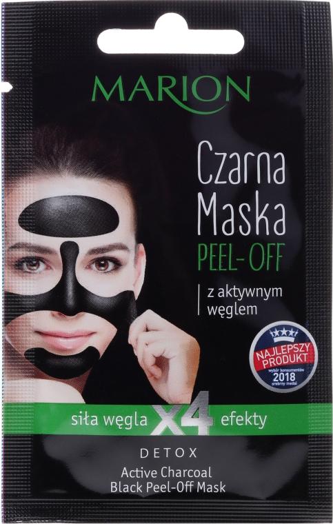 Czarna maska peel-off z aktywnym węglem - Marion Detox