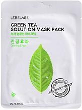 Kup Maseczka do twarzy w płachcie - Lebelage Green Tea Solution Mask