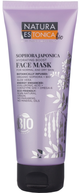 Maska do twarzy Perełkowiec japoński - Natura Estonica Bio Sophora Japonica Face Mask