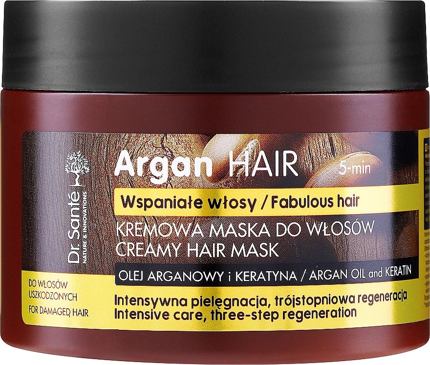 Kremowa maska do włosów Olej arganowy i keratyna - Dr. Sante Argan Hair