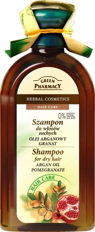 Szampon do włosów suchych Olej arganowy i granat - Green Pharmacy