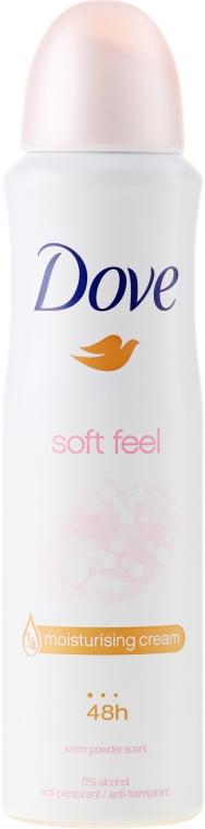 Kremowy antyperspirant w sprayu z ekstraktem z jedwabiu - Dove Soft Feel Antiperspirant Deodorant Spray — фото N1