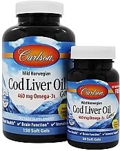Kup Zestaw - Carlson Labs Cod Liver Oil Gems 460 mg (gem/150szt + gem/30szt)