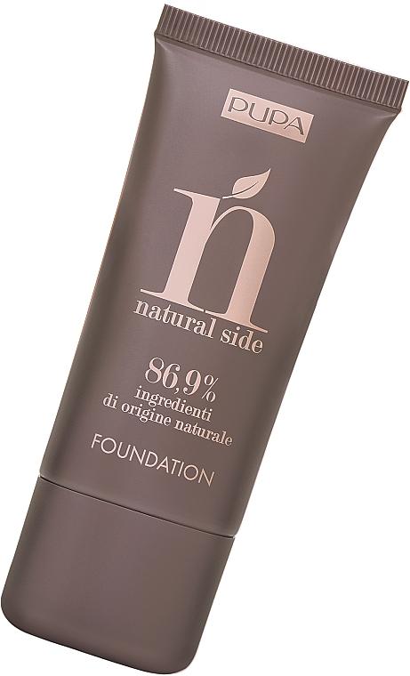 Naturalny podkład do twarzy - Pupa Natural Side Foundation — фото N1