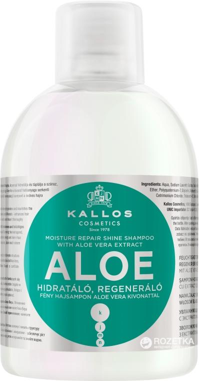 Aloesowy szampon nawilżająco-regenerujący do włosów suchych i łamliwych - Kallos Cosmetics Aloe Vera Full Repair Shampoo